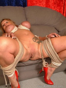 Big titted MILF bound