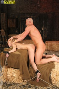 Bound slave getting fucked