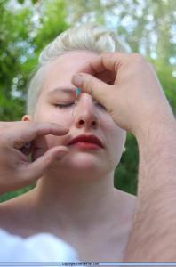 Extreme facial piercing