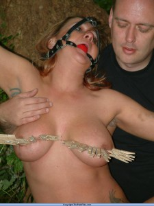 gagged slut with master