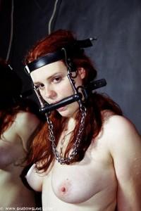 Redhead slave gagged